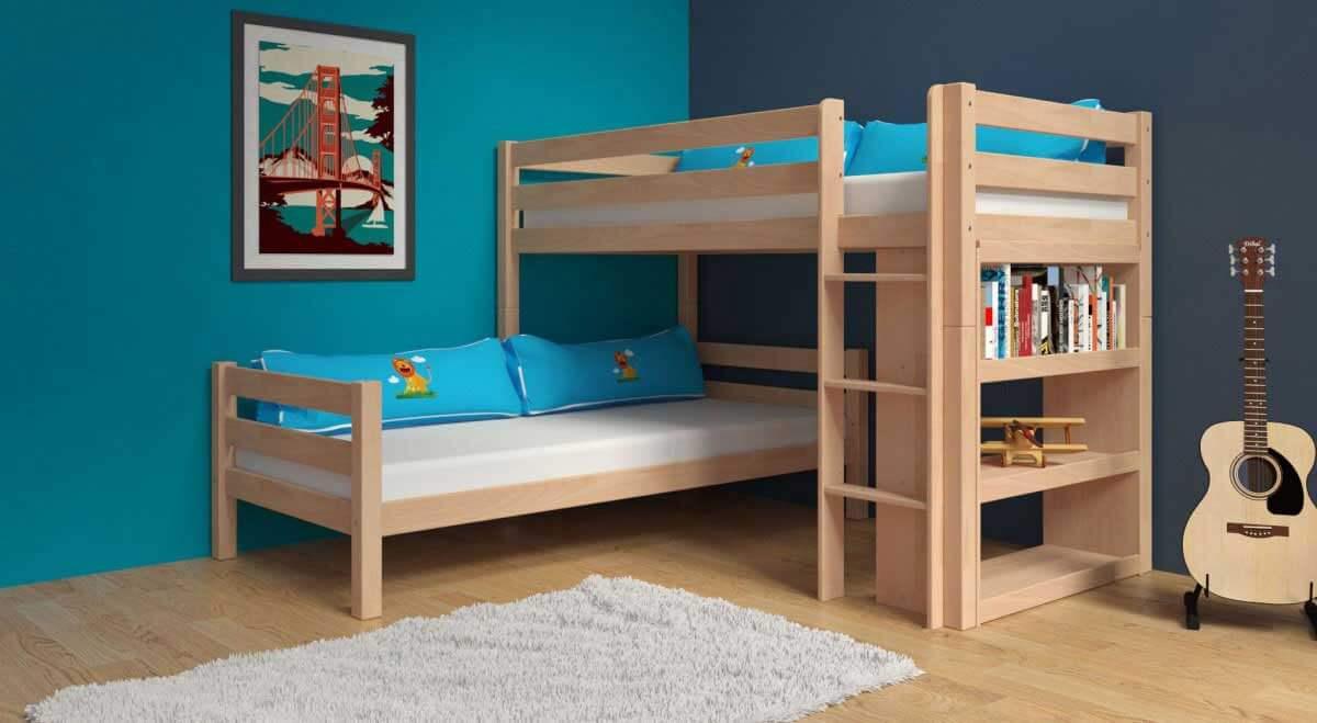 etagenbett stockbett kenny natur klar lackiert buche massiv vollholz. Black Bedroom Furniture Sets. Home Design Ideas