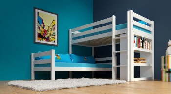 Etagenbett / Stockbett KENNY Weiß lackiert