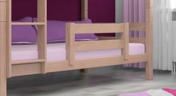 Rausfallschutz / Abstürzsicherung  für das untere Bett - Vollholz Buche Massiv Natur klar lackiert