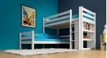 Etagenbett / Stockbett KENNY weiß lackiert Buche massiv Vollholz