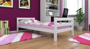 Jugendbett Einzelbett ADAM Weiß lackiert Vollholz inkl Roll-Lattenrost 200 x 90