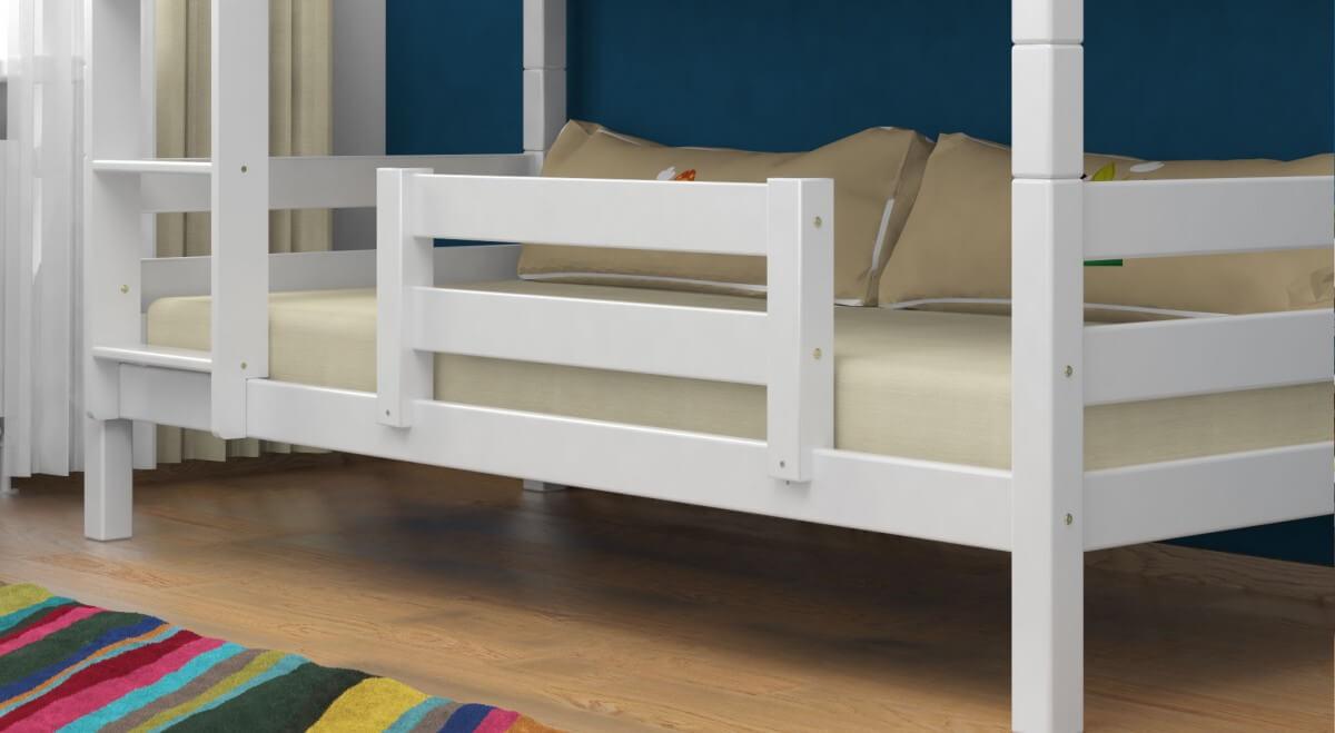 Rausfallschutz / Abstürzsicherung für das untere Bett - Vollholz Buche Massiv in Weiß