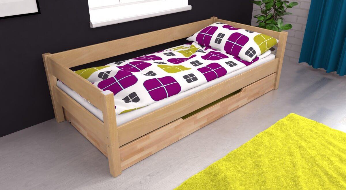 einzelbett mit bettkasten buche, jugendbett einzelbett kojenbett jens inkl. bettkasten. buche massiv, Design ideen