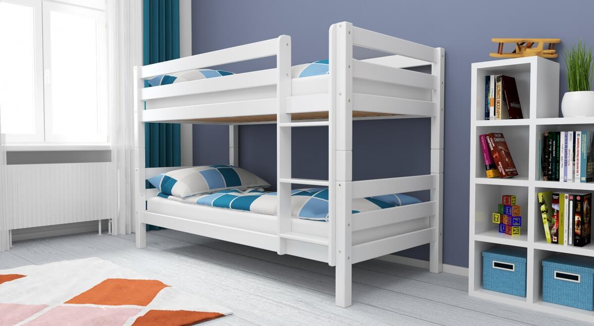 Etagenbett Weiss Buche Massiv : Kinderbett etagenbett pauli buche vollholz massiv weiß lackiert