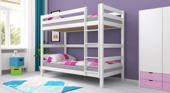 Etagenbett Stockbett Doppelstockbett Kinderbett LARS Weiß lackiert Buche Massiv Vollholz. Für Kinder und Erwachsene.