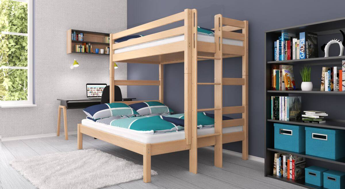 Etagenbett Für Erwachsene 140x200 : Hochbett für erwachsene etagenbett