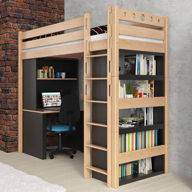 hochbett massivholz good hochbett mit rutsche kimball x. Black Bedroom Furniture Sets. Home Design Ideas