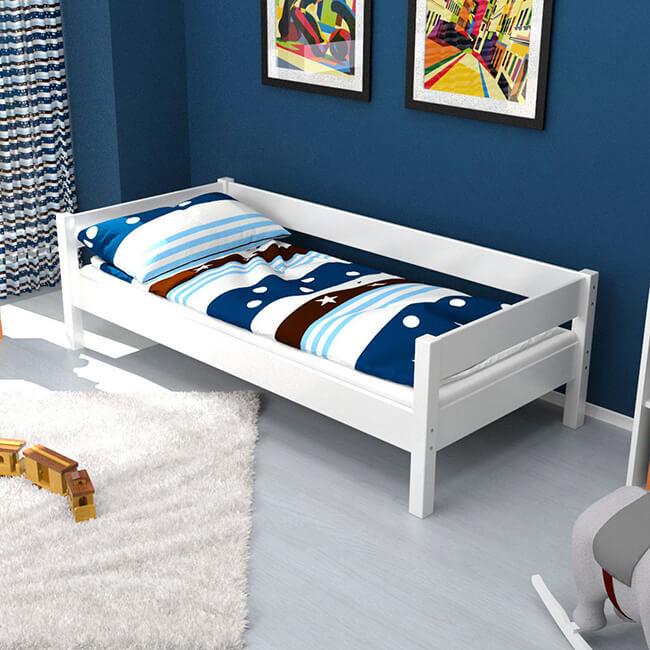 Einzelbett Weiss 90×200