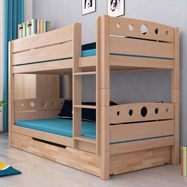 etagenbett stockbett inkl bettkasten natur buche massiv kinderbett hochbett neu ebay. Black Bedroom Furniture Sets. Home Design Ideas
