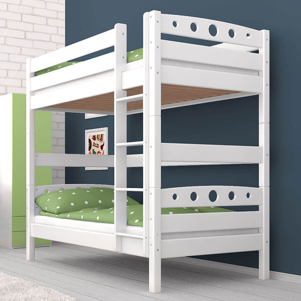 etagenbett stockbett magnus wei buche massiv vollholz kinderbett hochbett neu 9120068010191 ebay. Black Bedroom Furniture Sets. Home Design Ideas
