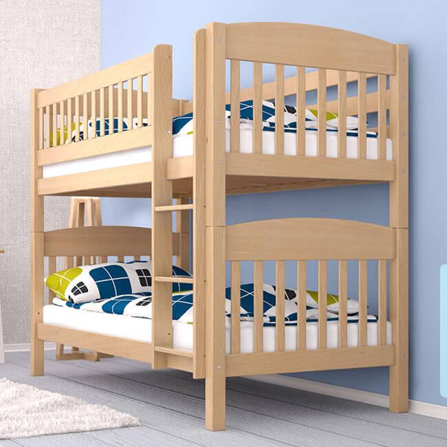 Etagenbett Stockbett Kinderbett Doppelstockbett ELIOTT Buche Massiv Vollholz Teilbar - Für Kinder und Erwachsene