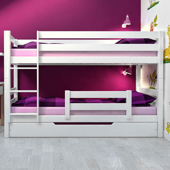 etagenbett stockbett inkl bettkasten und rausfallschutz buche massiv vollholz ebay. Black Bedroom Furniture Sets. Home Design Ideas