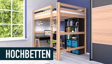 Hochbetten / Kinderbetten aus massivem Buchenholz von allerhöchster Qualität. für Kinder und Jugendl